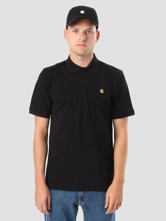 Carhartt WIP Chase Pique Polo Black Gold I023807