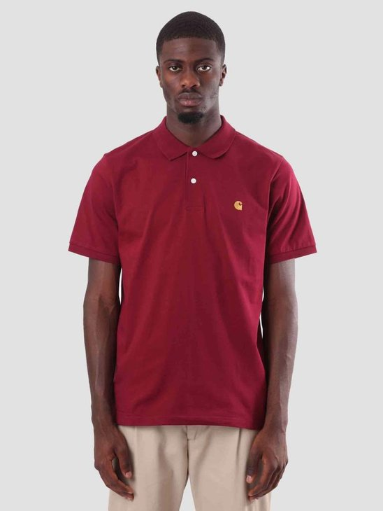Carhartt WIP Chase Polo Mulberry Gold I026393-88490