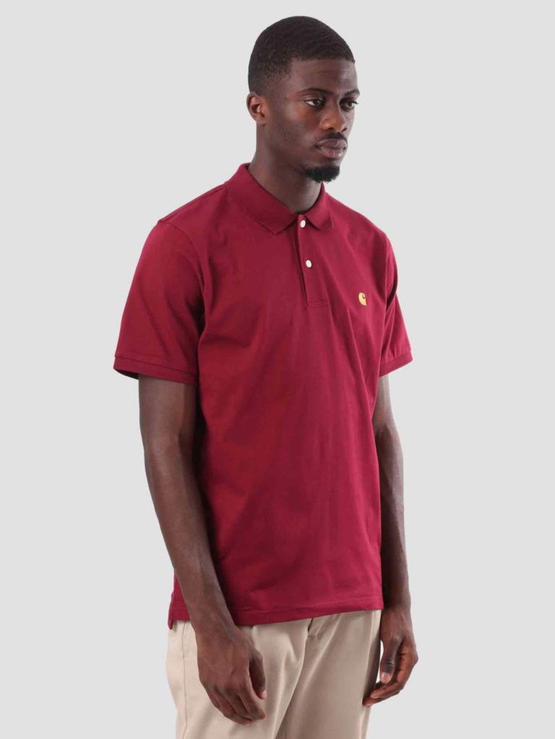 Carhartt WIP Carhartt WIP Chase Polo Mulberry Gold I026393-88490