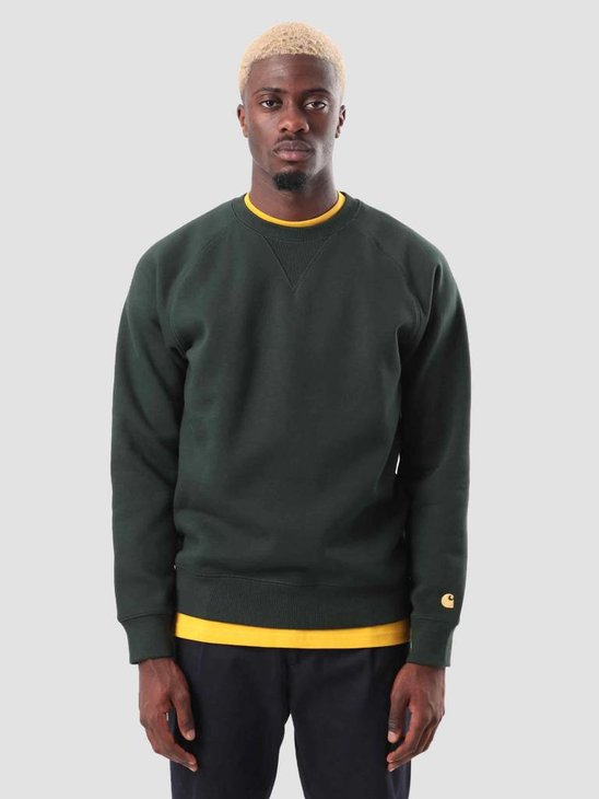 Carhartt Chase Sweat Loden Gold I026383-88590