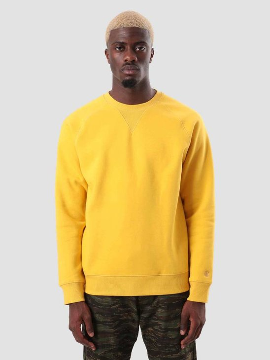Carhartt Chase Sweat Quince Gold I026383-62290