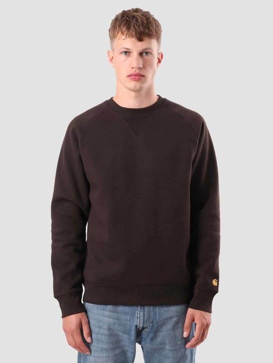 Carhartt Chase Sweat Tobacco Gold I026383-4790