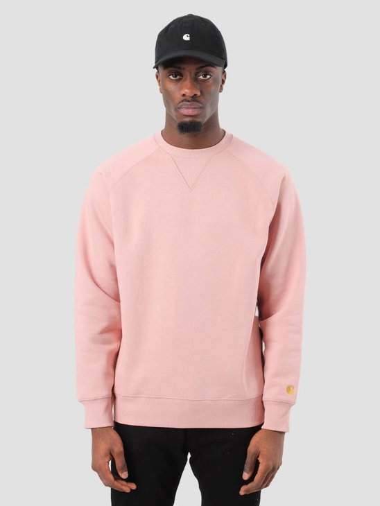 Carhartt Chase Sweater Soft Rose Gold I024652-84190