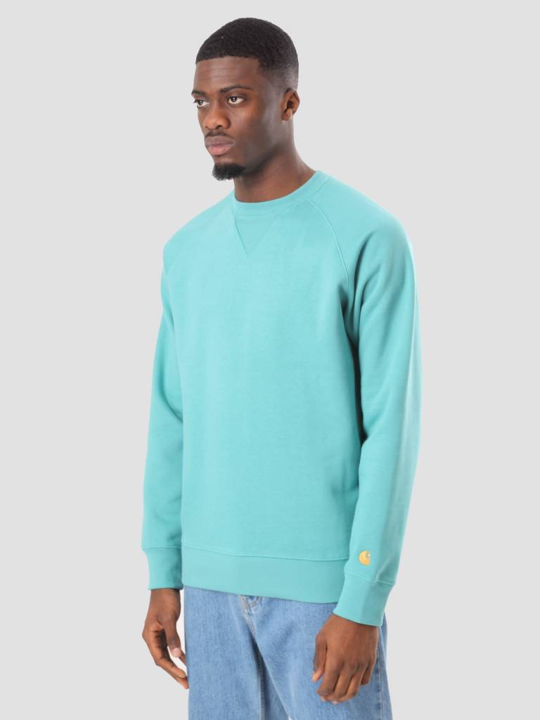 Carhartt Carhartt Chase Sweater Soft Teal Gold I024652-715