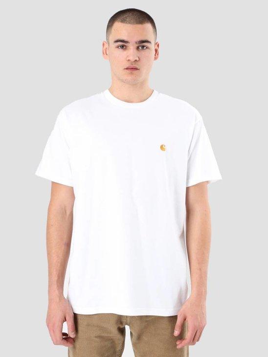 Carhartt WIP Chase T-Shirt White Gold I021949