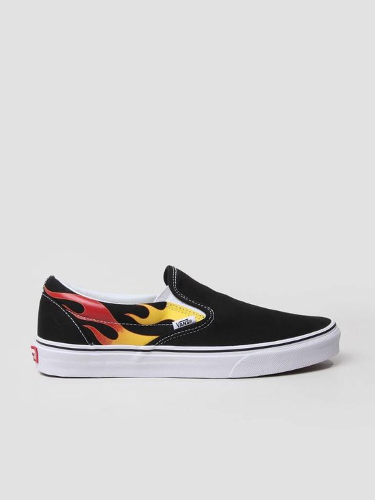 Vans Classic Slip-On Flame Black VA38F7PHN