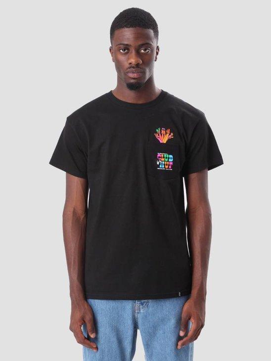 HUF Club Huf Pocket T-Shirt Black TS00257