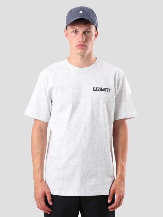 Carhartt College Script T-Shirt Ash Heather Dark Navy I024806-48291