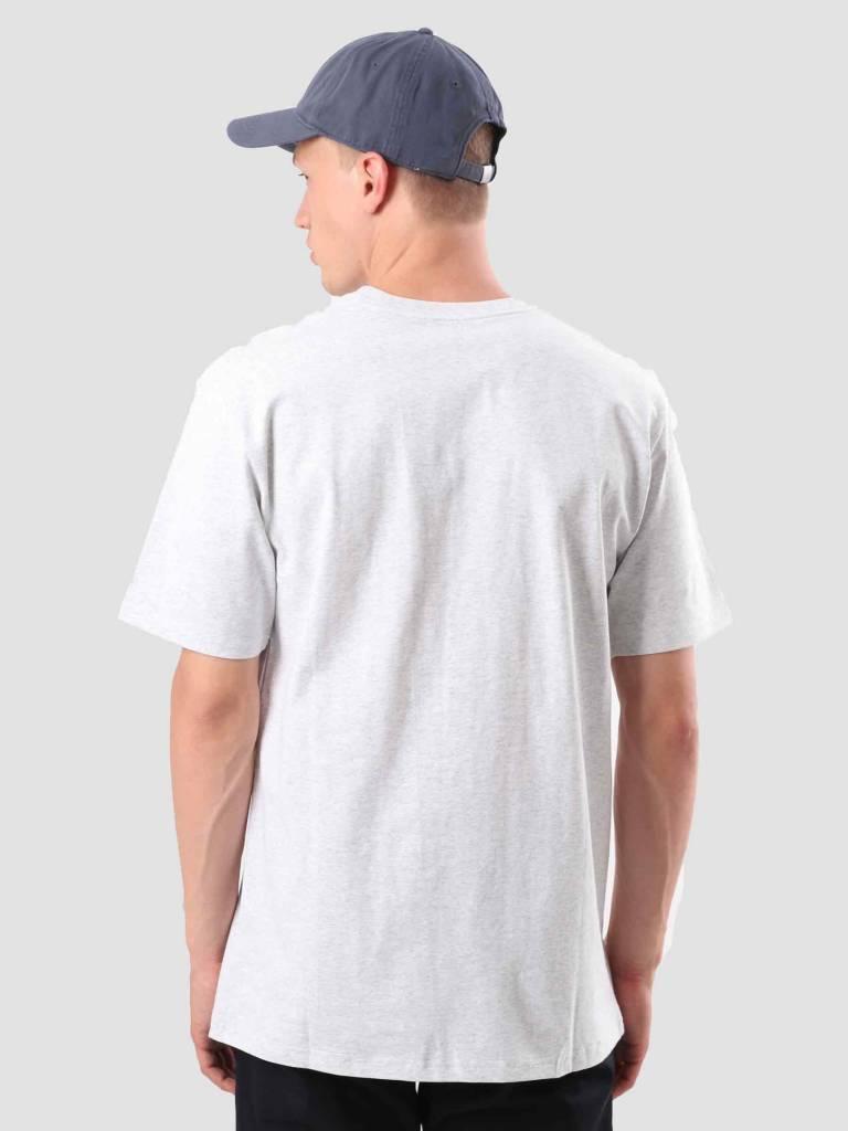 Carhartt Carhartt College Script T-Shirt Ash Heather Dark Navy I024806-48291