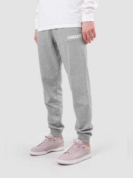 Carhartt College Sweat Pant Grey Heather White I024672-V690