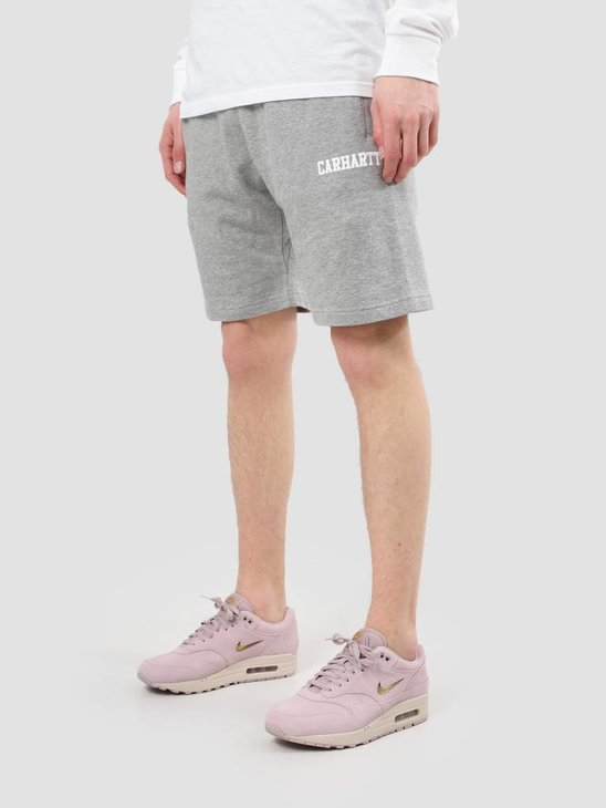 Carhartt WIP College Sweat Short Grey Heather White I024673-V690
