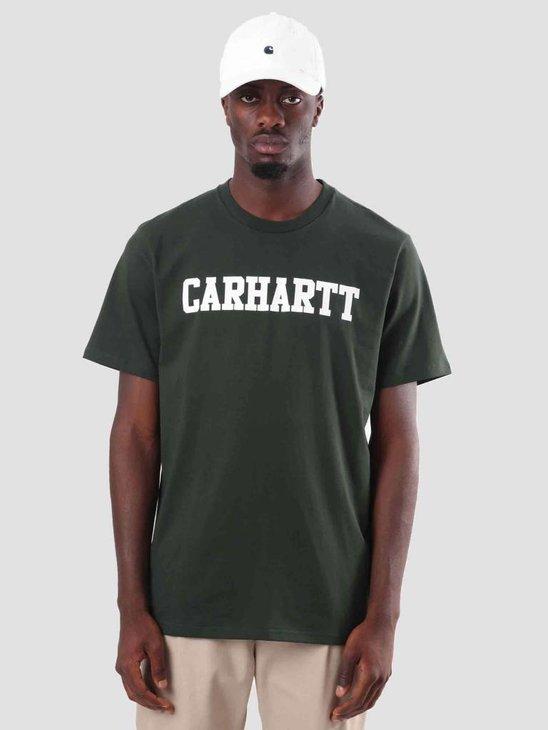 Carhartt College T-Shirt Loden White I024772-88590