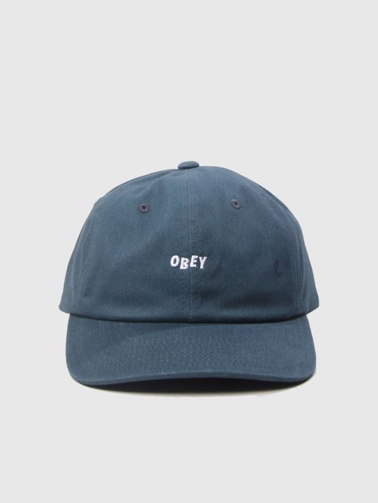 Obey Cutty 6 Panel Snapback Dark Teal 100580074