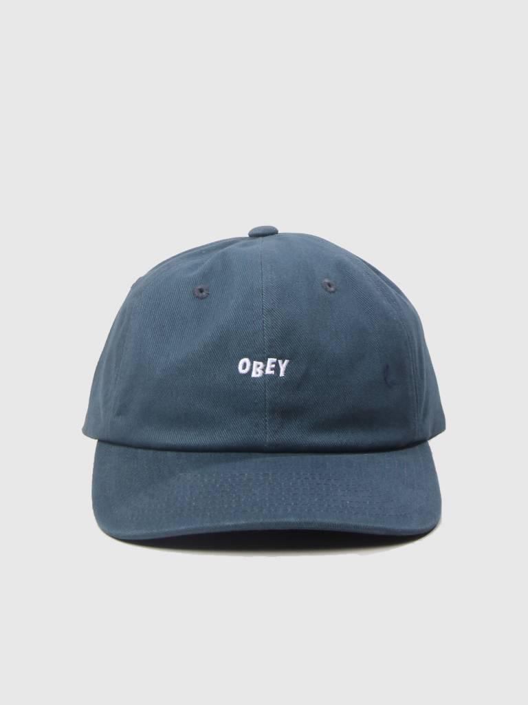 Obey Obey Cutty 6 Panel Snapback Dark Teal 100580074