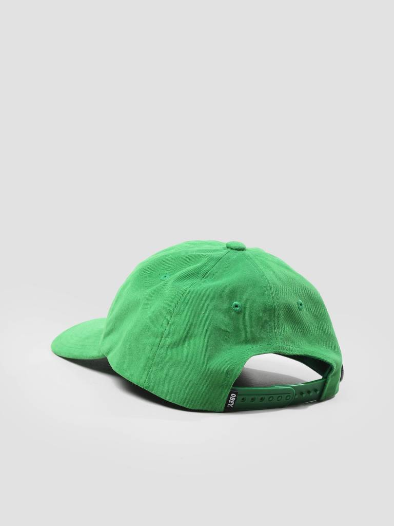 Obey Obey Cutty 6 Panel Snapback Green 100580074