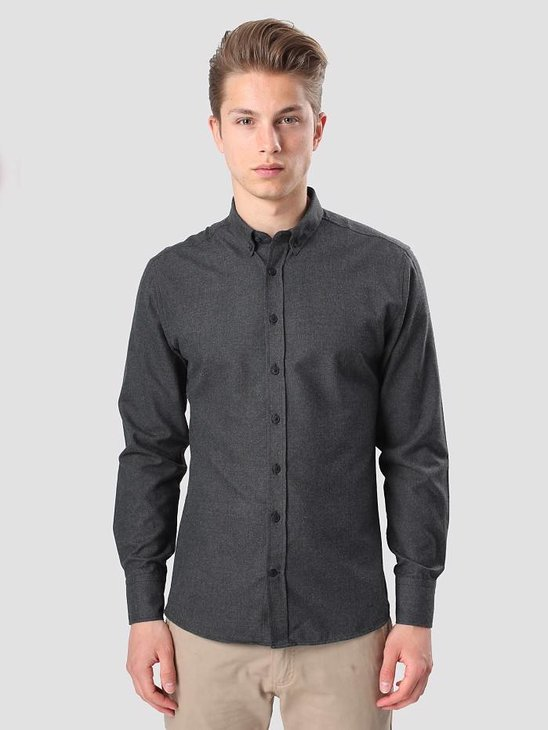 Kronstadt Dean Flannel Basic Shirt Black 20425