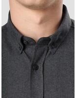 Kronstadt Kronstadt Dean Flannel Basic Shirt Black 20425