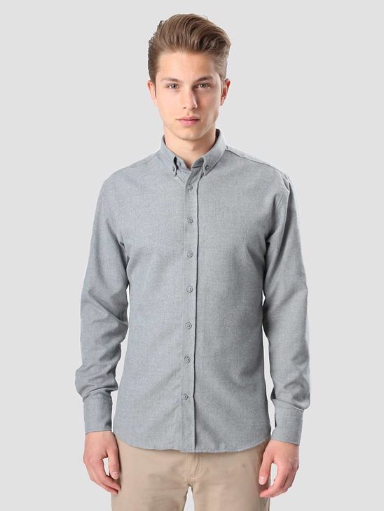 Kronstadt Dean Flannel Basic Shirt Grey 20425