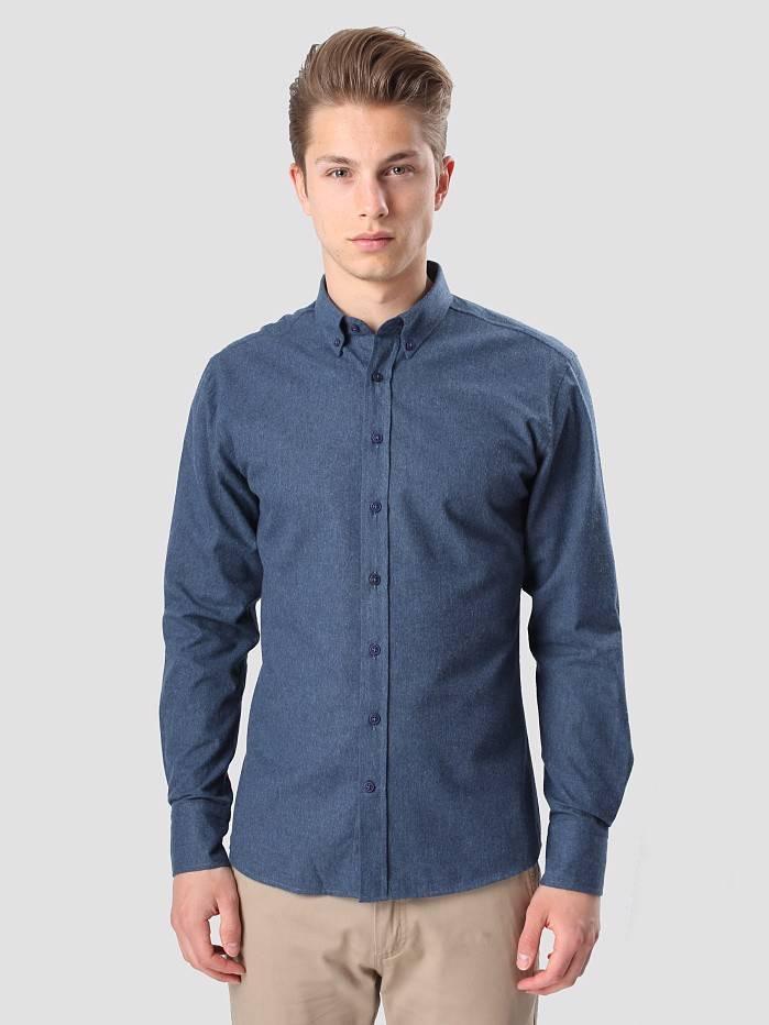 Kronstadt Kronstadt Dean Flannel Basic Shirt Navy