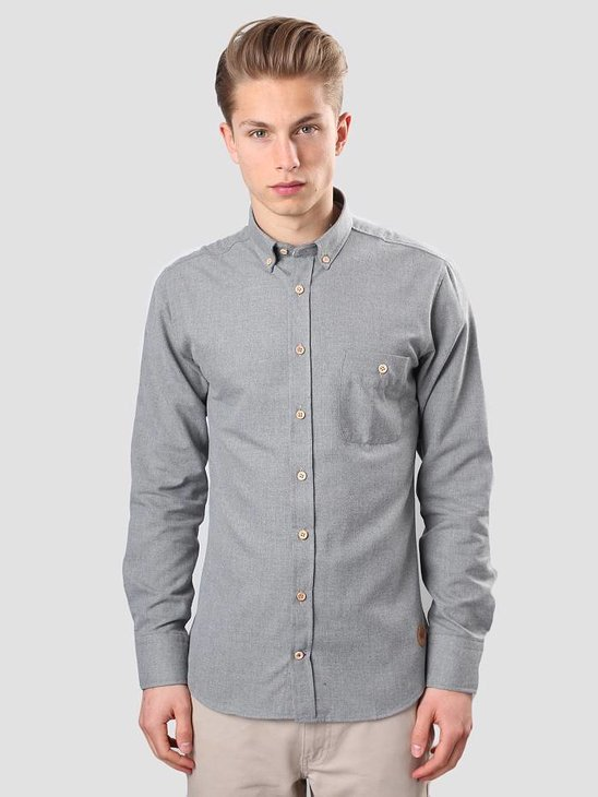 Kronstadt Dean Shirt 07A Plain Grey 20404-K008