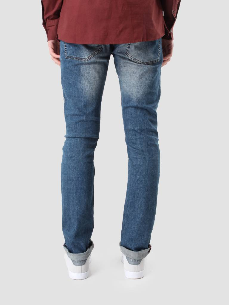 RVLT RVLT Destroy Denim Slim Blue 5105