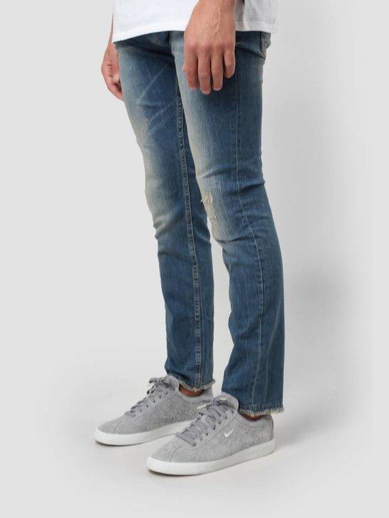 RVLT Destroy Wash Denim Slim Blue 5110 Slim