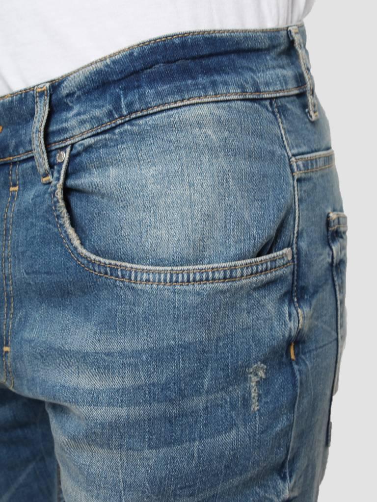 RVLT RVLT Destroy Wash Denim Slim Blue 5110 Slim