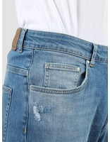 RVLT RVLT Destroyed Wash Jeans Crop Light Blue 5507