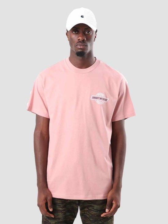 Carhartt Detroit Emblem T-Shirt Soft Rose I025311-84100