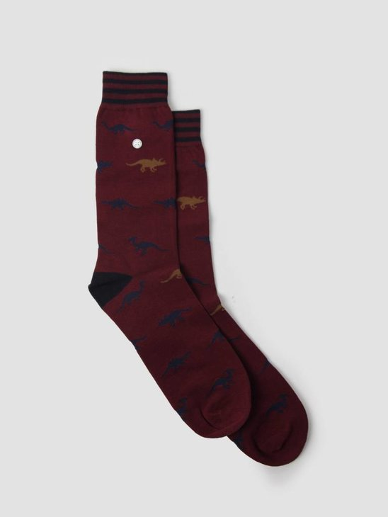 Alfredo Gonzales Dinosaurs Socks Bordeaux AG-Sk-ANI-03