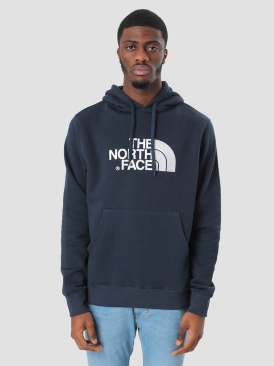 The North Face Drew Peak Pullover Hoodie Urban navy TNF White T0AHJYM6S