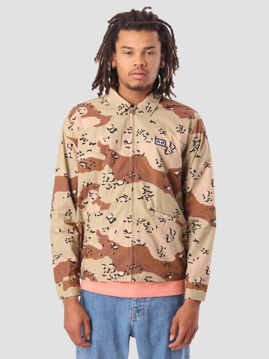 Obey Driver Jacket Choco Chip Camo 121800316
