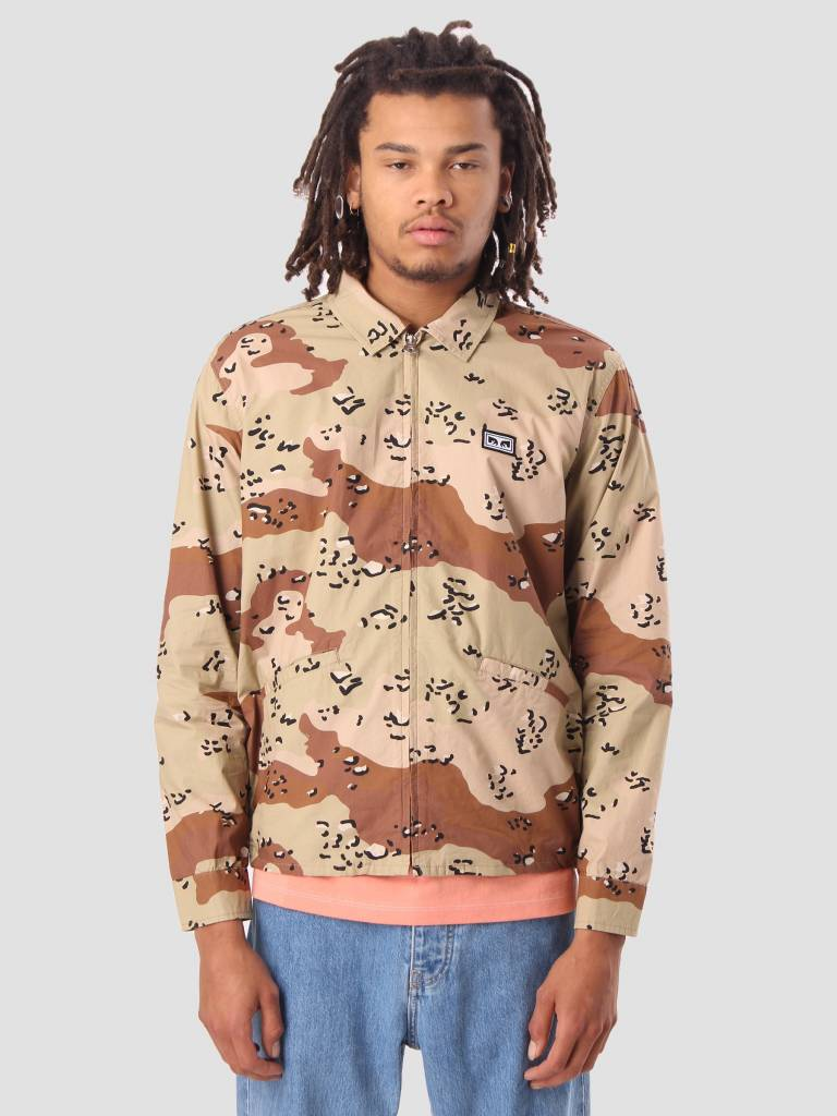 Obey Obey Driver Jacket Choco Chip Camo 121800316