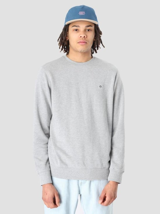 Obey Eighty Nine Icon Crewneck Heather Grey 111600069