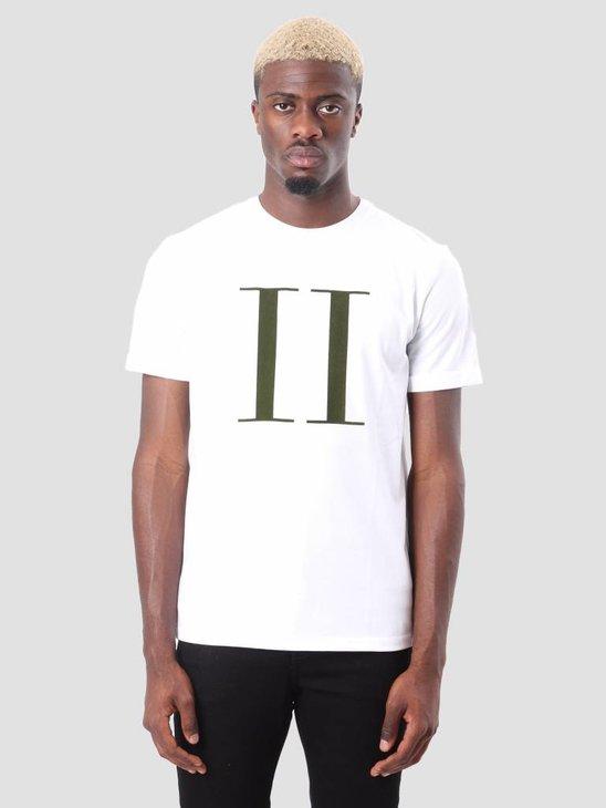 Les Deux Encore T-Shirt White Kombu Green LDM101006
