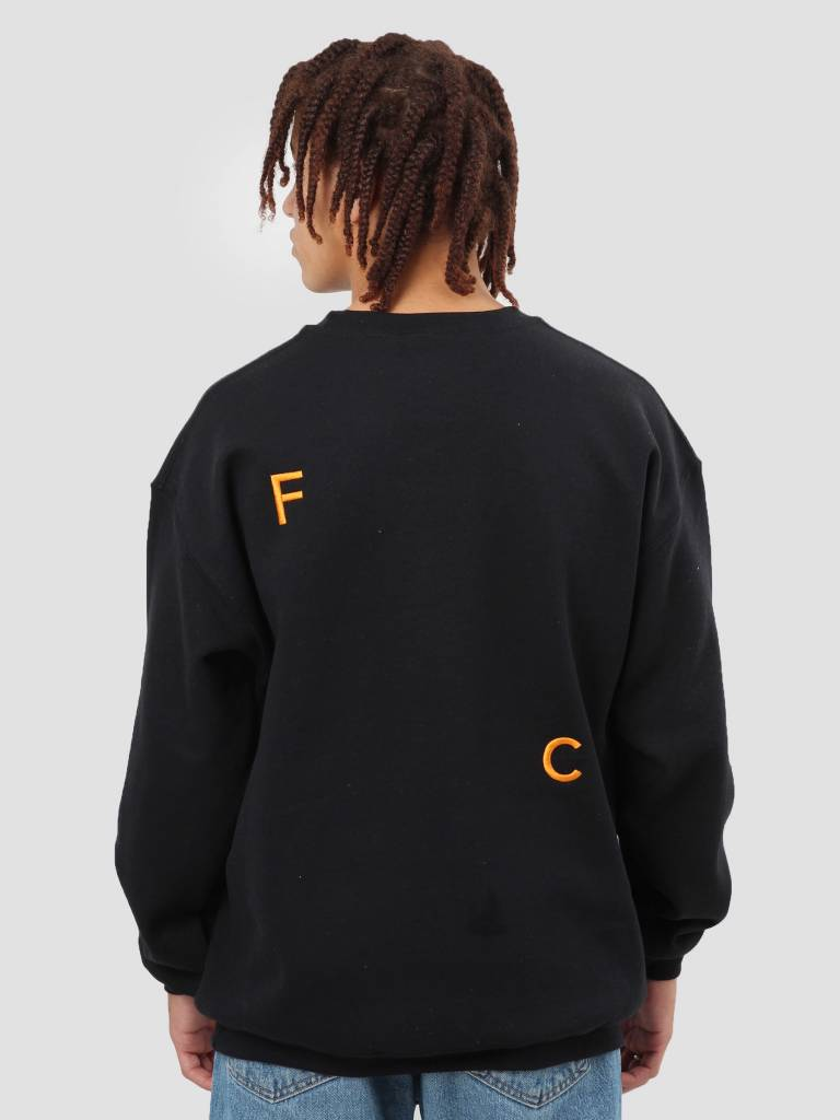 FRESHCOTTON FreshCotton FC Logo Crewneck Sweat Black