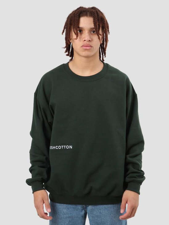 FreshCotton FC Logo Crewneck Sweat Green