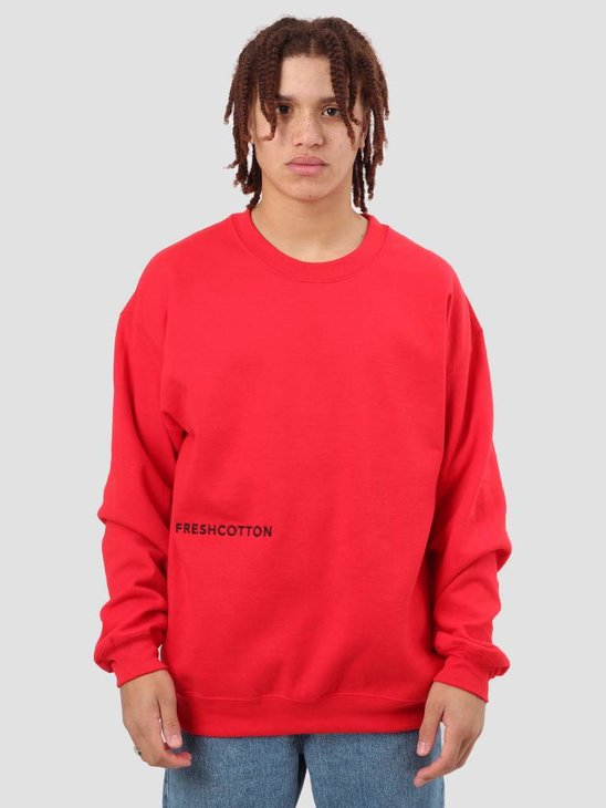 FreshCotton FC Logo Crewneck Sweat Red