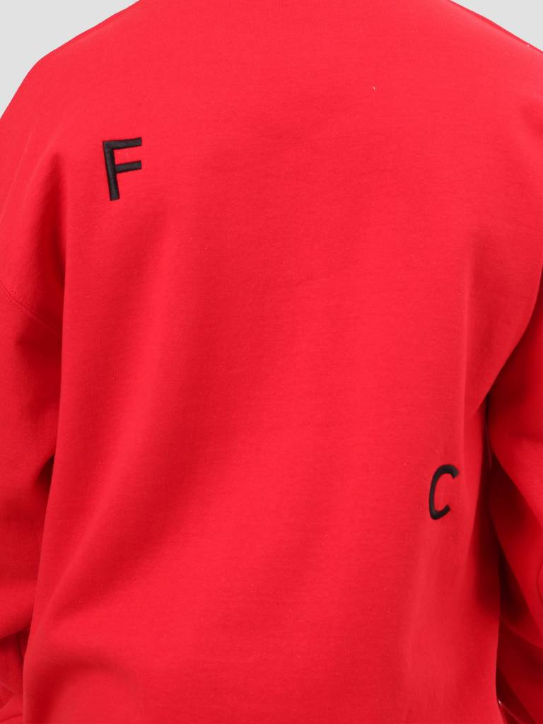 FRESHCOTTON FreshCotton FC Logo Crewneck Sweat Red