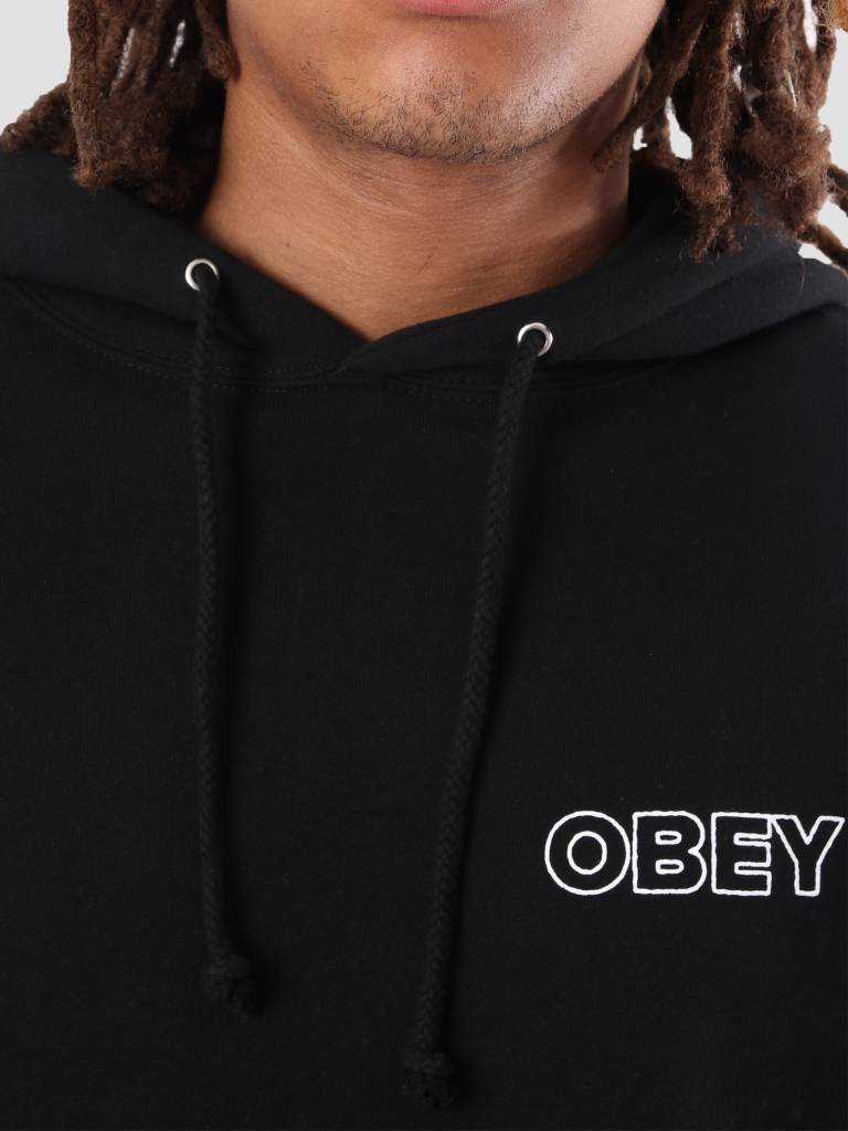 Obey Obey Fight Those That Control Hoodie Black 111731812