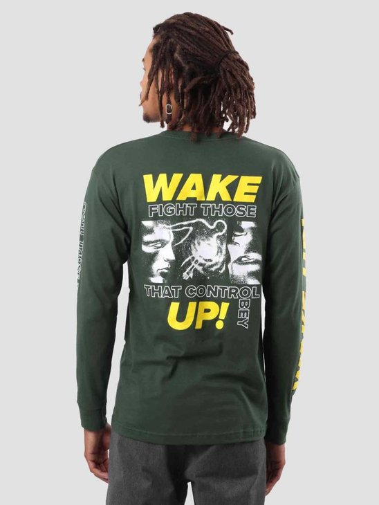 Obey Fight Those That Control Longsleeve Forest Green 164901812