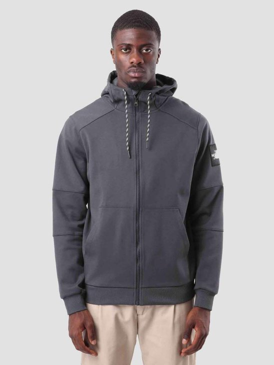 The North Face Fine Full Zip HD Asphalt Grey T93BPG0C5