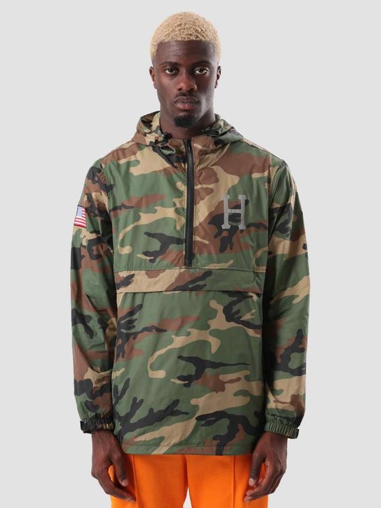 HUF Fourth Anorak Jacket Woodland Camo JK00133