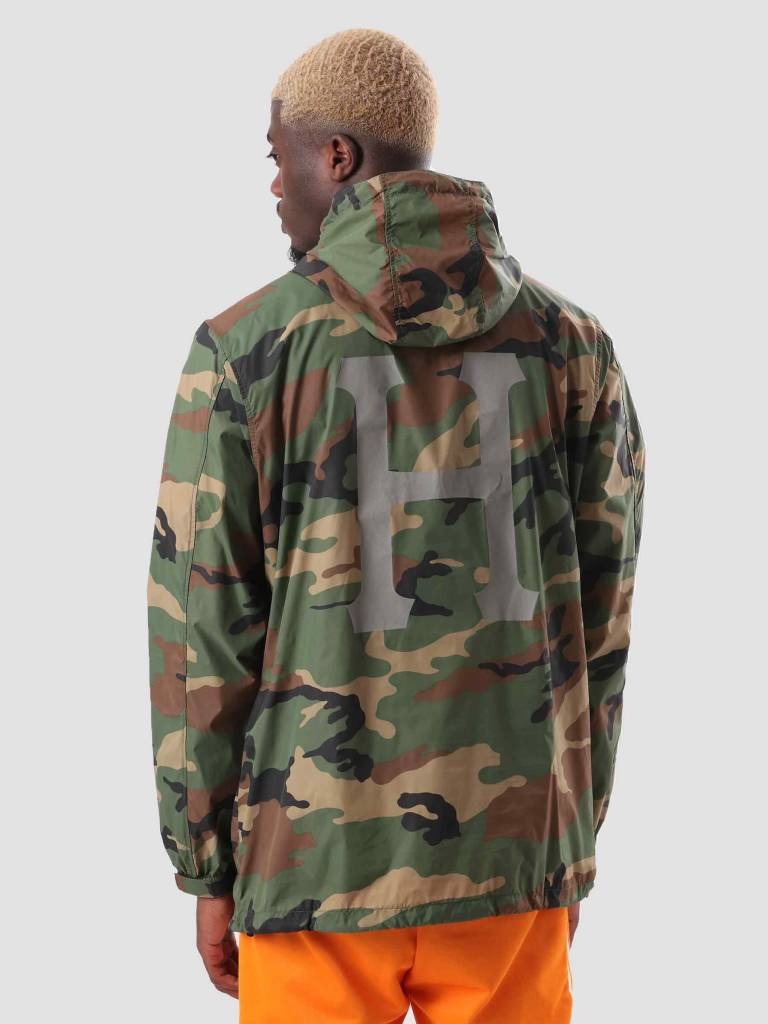 HUF HUF Fourth Anorak Jacket Woodland Camo JK00133