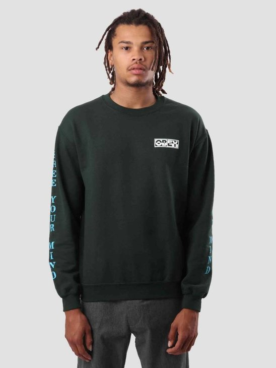 Obey Free Your Mind Crew Forest Green 114981793