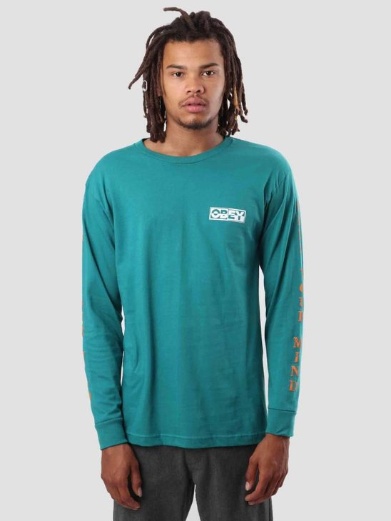 Obey Free Your Mind Longsleeve Teal 164901793