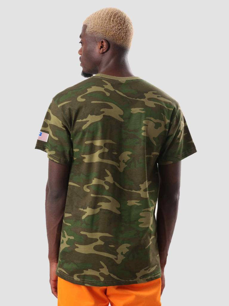HUF HUF Fuck It Camo Flag T-Shirt Woodland Camo TS00622