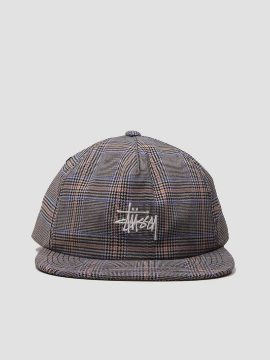 Stussy Glen Plaid Cap Tan 131802