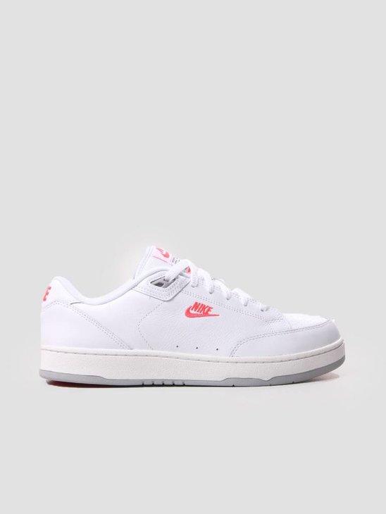 Nike Grandstand II Premium Shoe White Solar Red-Wolf Grey AA8005-103