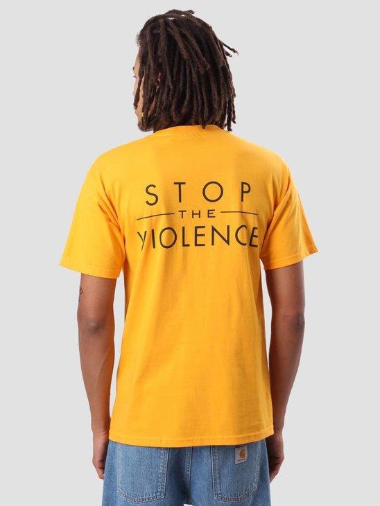 Obey Gun Mandala T-Shirt Gold 163081944